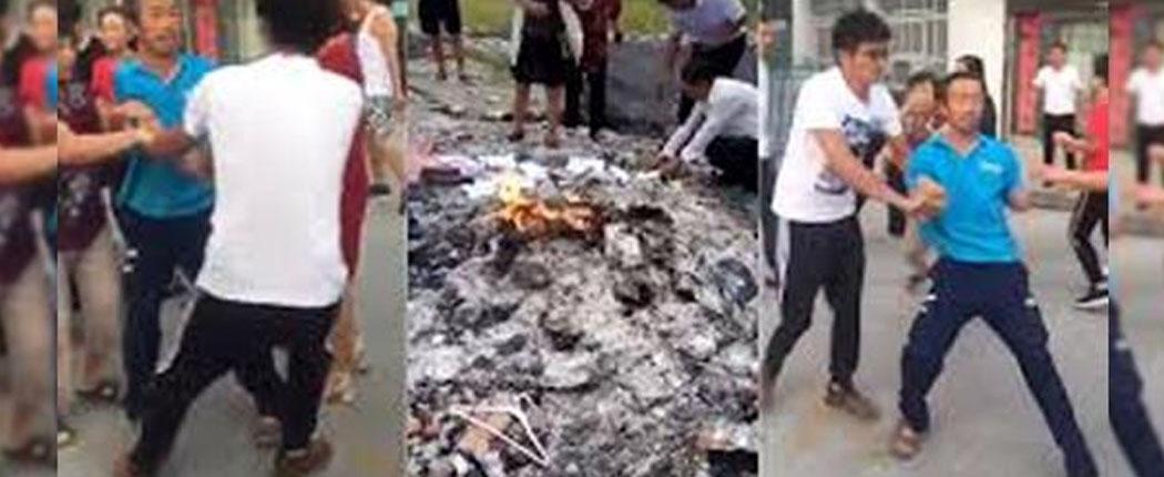 Resultado de imagen para quemando biblias en China