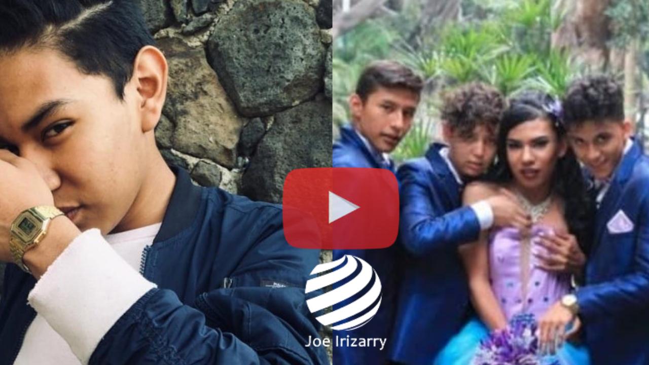 México Niño Celebra Su Fiesta De 15 Años Con Vestido Y